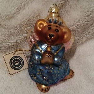 Boyds Bears Glass Christmas Ornament CELESTE NIB